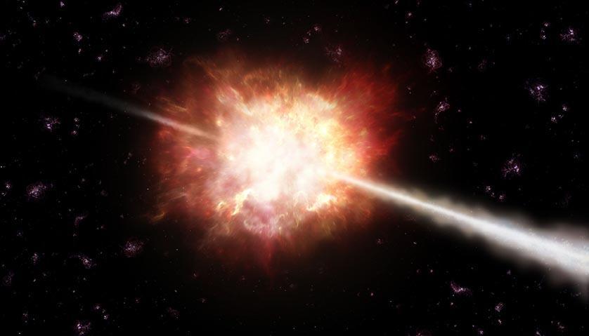 explosao raios gama