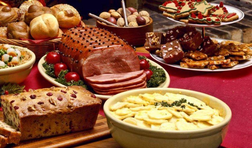 mesa reveillon comida