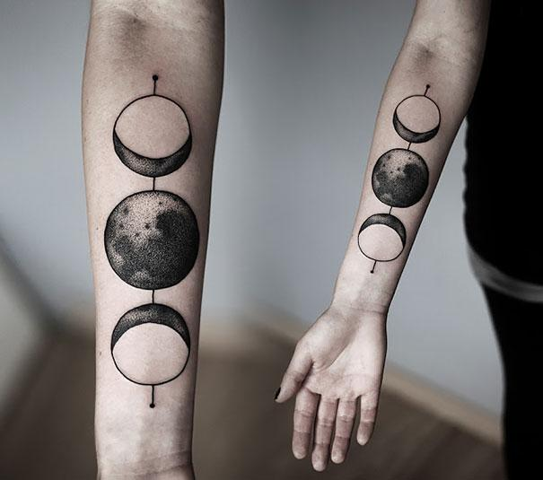three moons tattoo - photo #11
