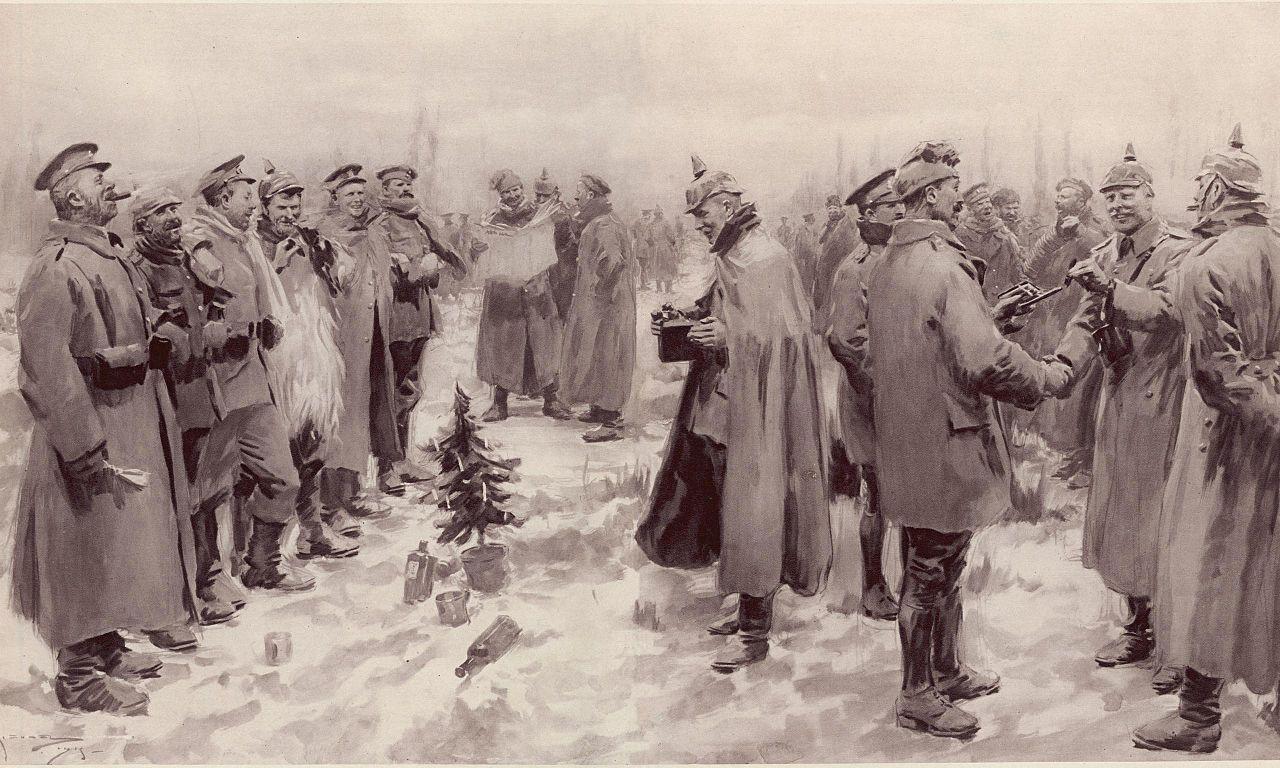 Resultado de imagem para pararam a guerra para comemorar o natal