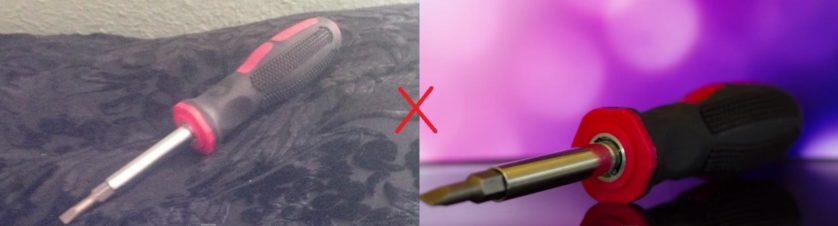 Foto do exato mesmo objeto usando a técnica