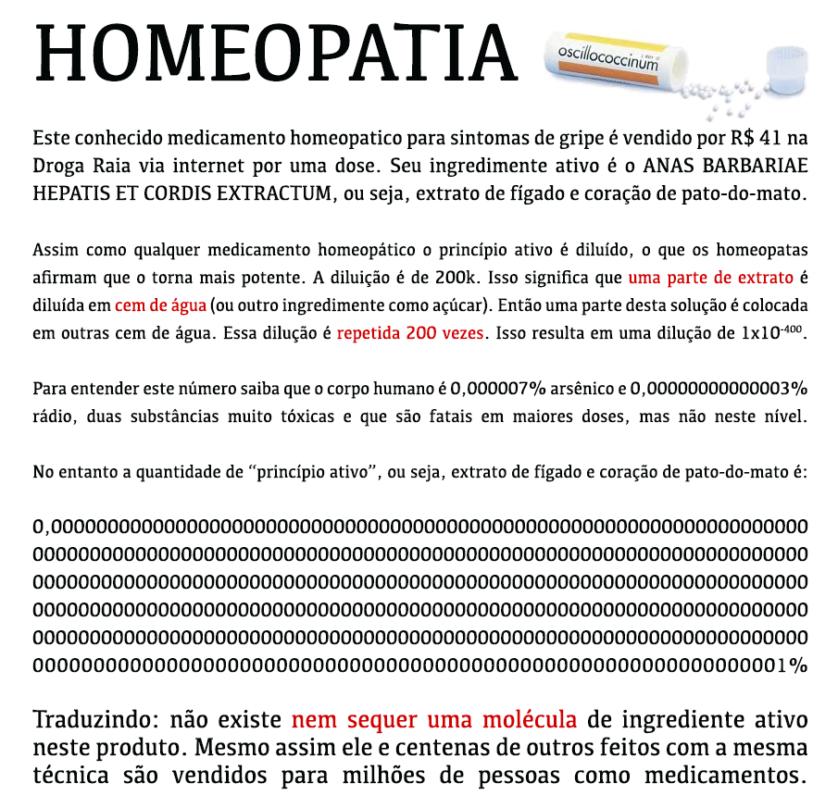 homeopatia nao funciona