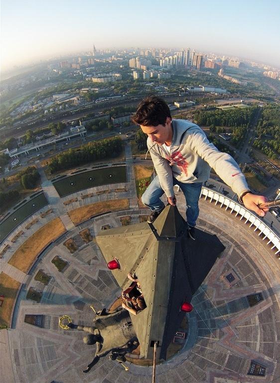 Selfie a 141 metros de altura em Moscou, Rússia