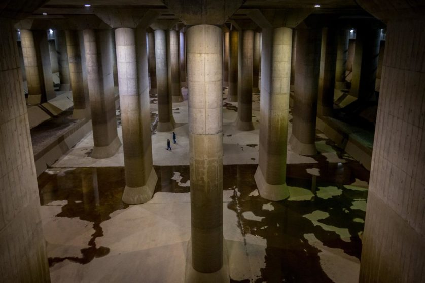 Underground Discharge Channel To Prevent Greater Tokyo From Flooding