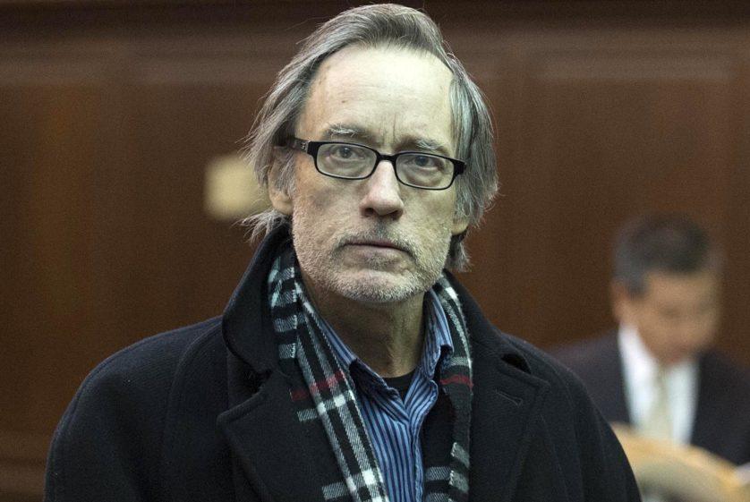 Experimental filmmaker and ex MIT instructor Joseph Gibbons filmed himself robbing a Manhattan Bank. He's seen being arraigned in Manhattan Criminal court.