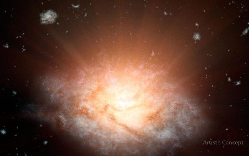 galaxia mais brilhante
