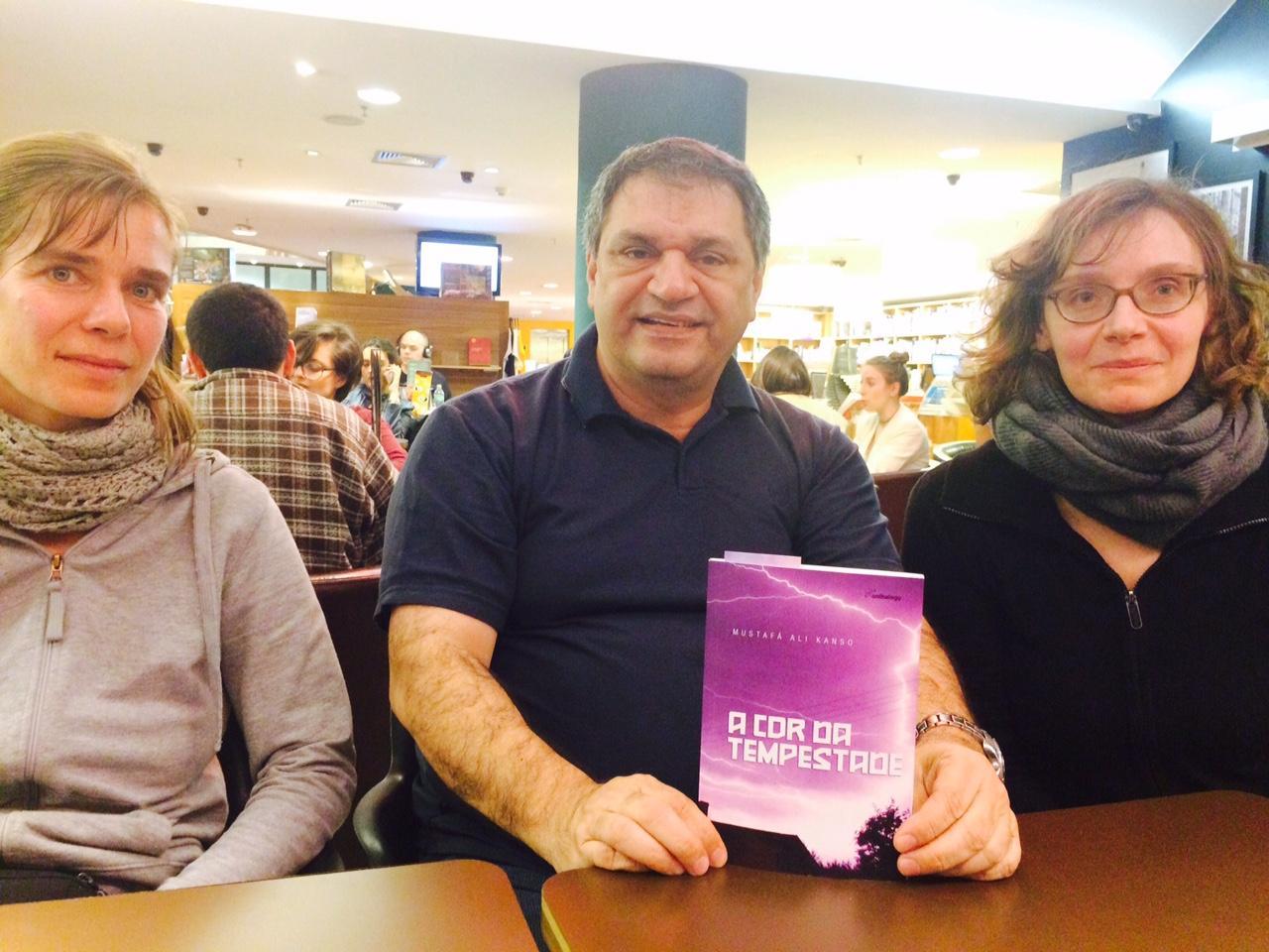 hipercrônicas - Christina Billand, Mustafá Ali Kanso e Ricarda Musser - foto do acervo do autor