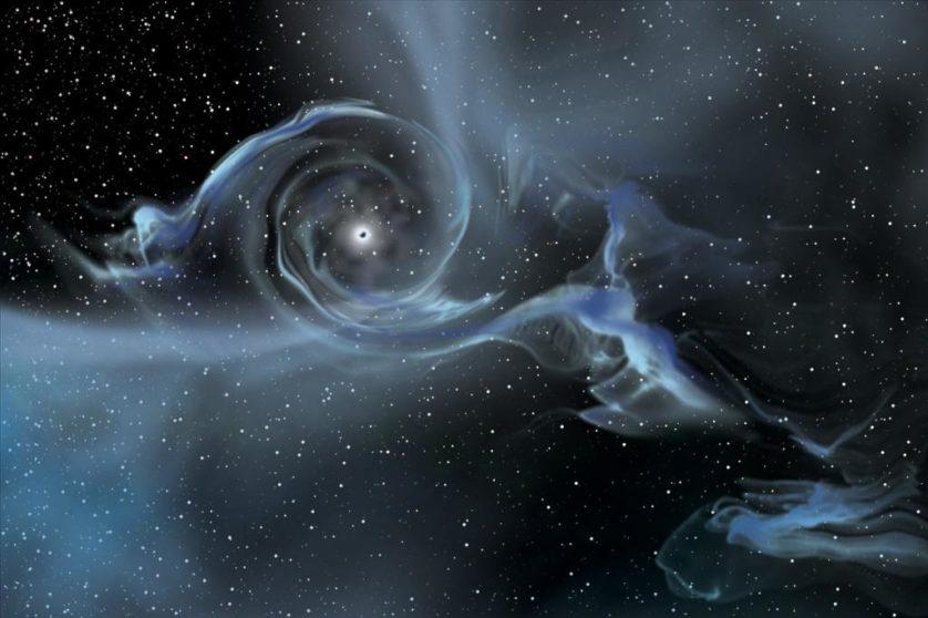 buracos negros flutuantes