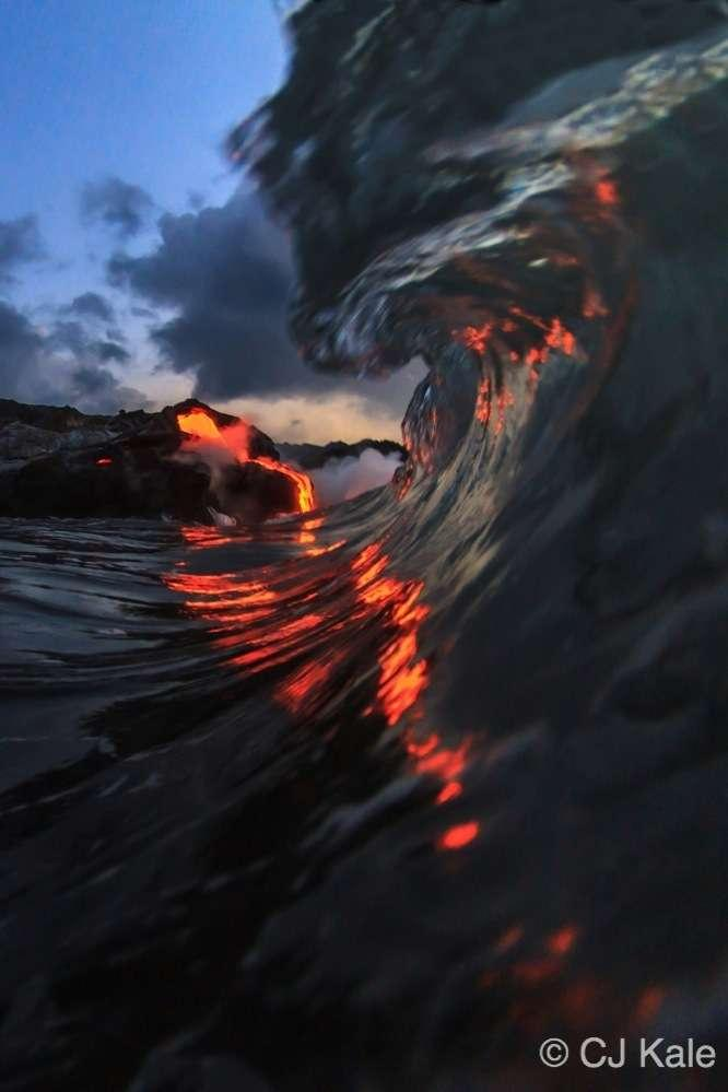 Lava surf photography, One of a kind imagry first and only done by CJ Kale.