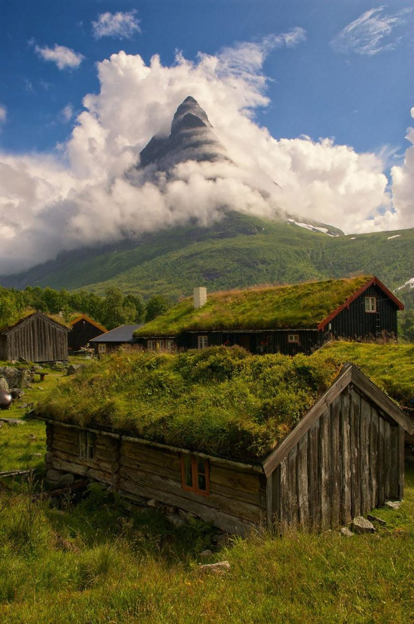Paisagem natural da noruega arquitetura conto de fadas 3