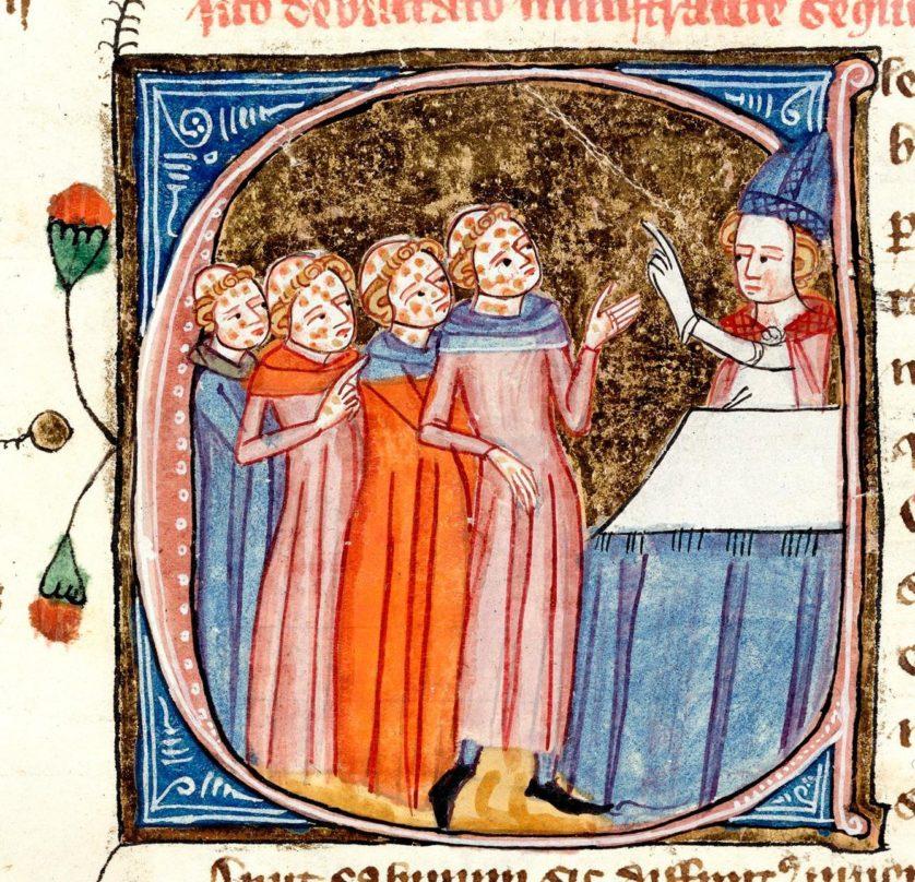 Royal 6.E.vi,  f. 301 detail