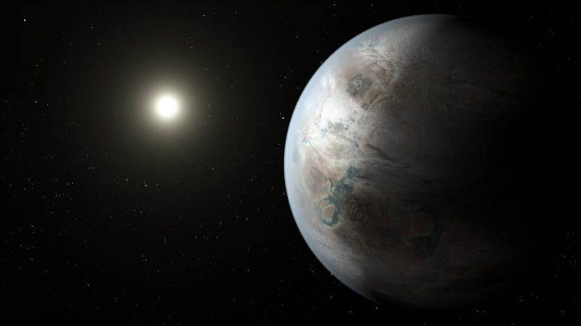Impressão artística de planeta Kepler 452b