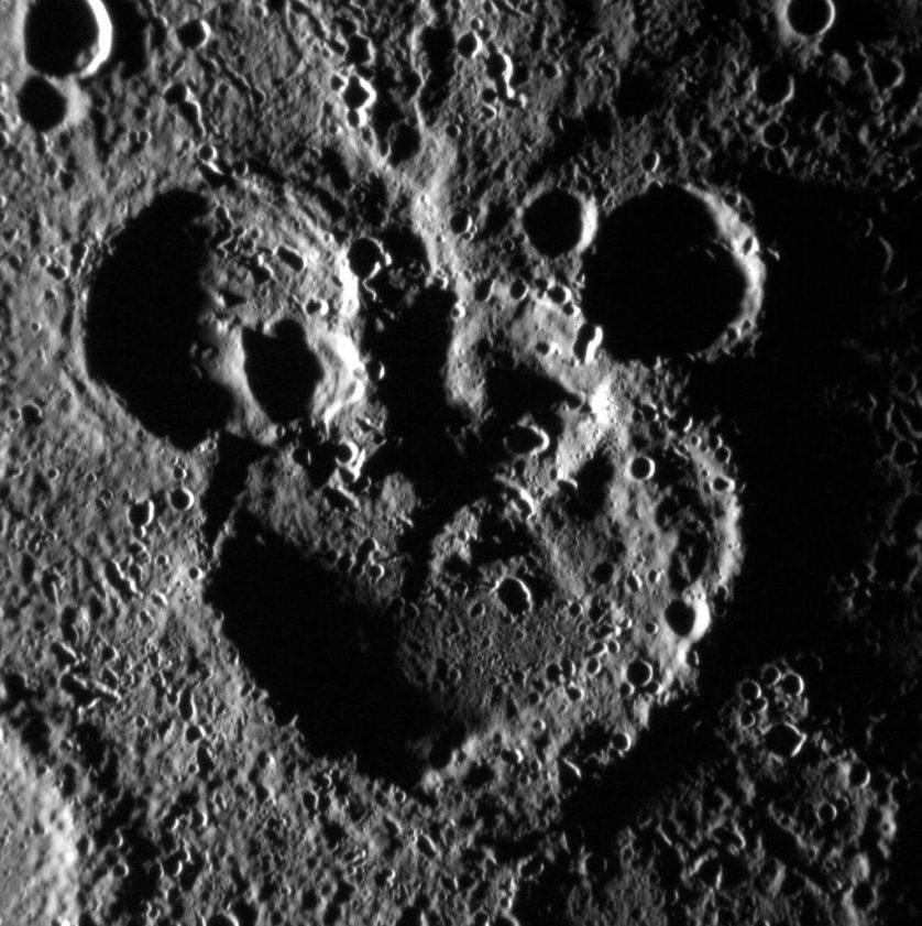 Mickey Mouse em Marte Pareidolia