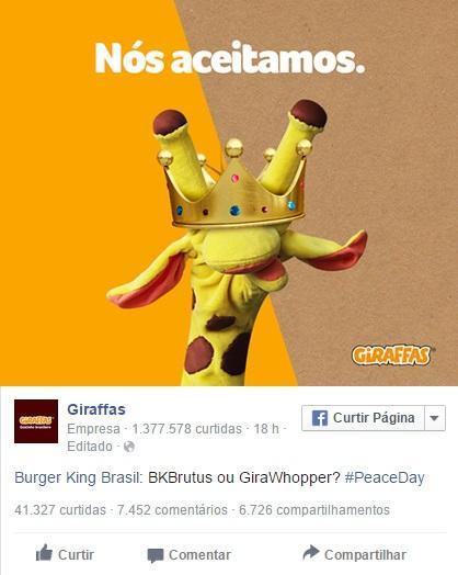 burguer king mcdonals e giraffas em oferta da paz mundial3