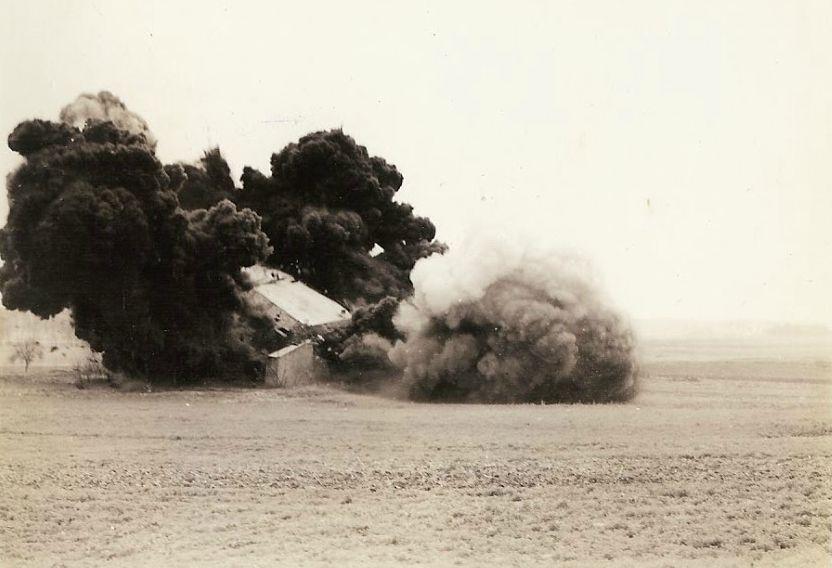 Minas M-5 antitanques britânicas foram usadas para explodir <a href=