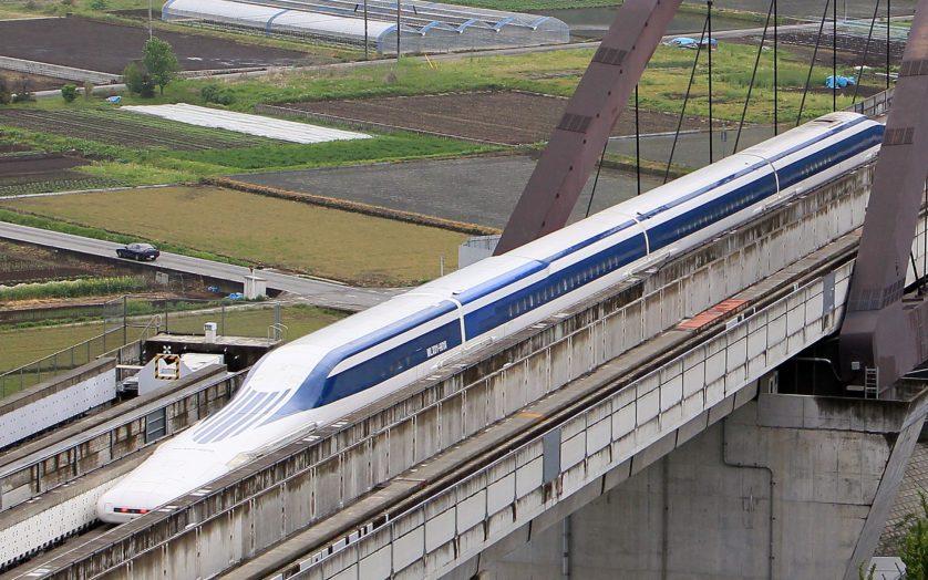 U.S. Transportation Secretary Ray LaHood Takes Japan's Maglev Test Ride