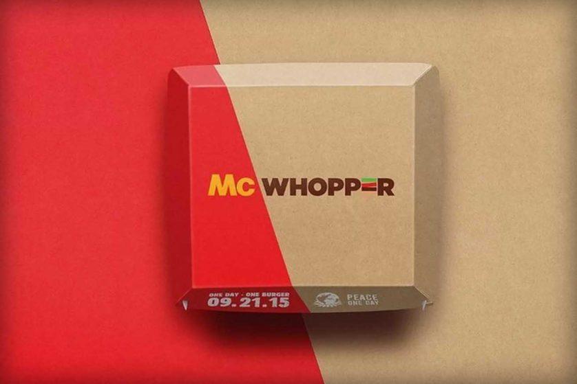 McDonald's explica o que acha da oferta de Burger King pela paz mundial