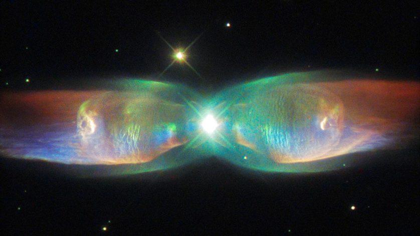 Uma nebulosa tão graciosa quanto uma borboleta