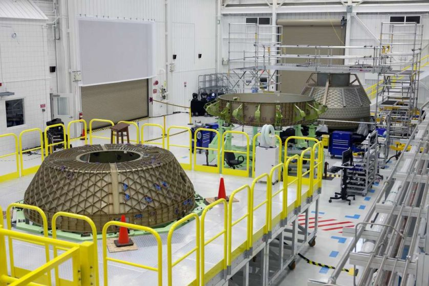 Instalação da Boeing no Centro Espacial Kennedy