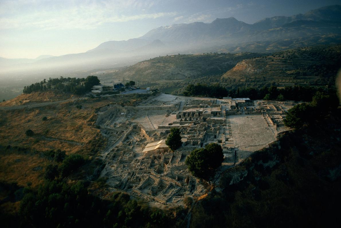 Phaistos, na ilha de Creta, foi um dos mais importantes centros de civilização minóica