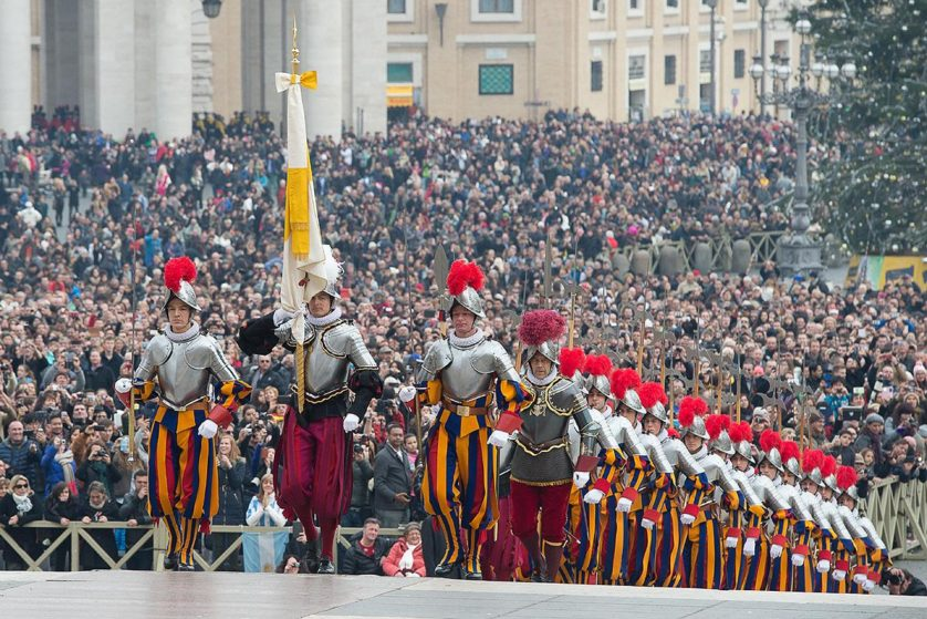 papa Francisco Vatican Swiss Guard