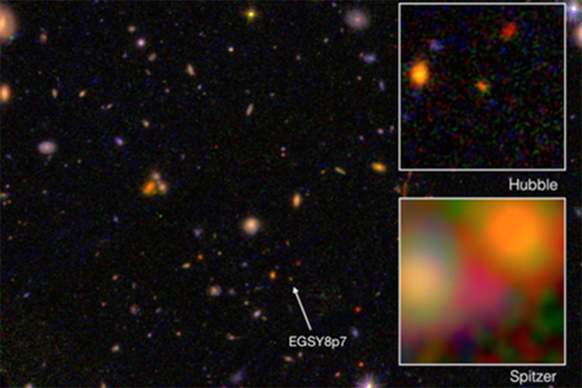 galaxia mais velha - quase da idade do universo