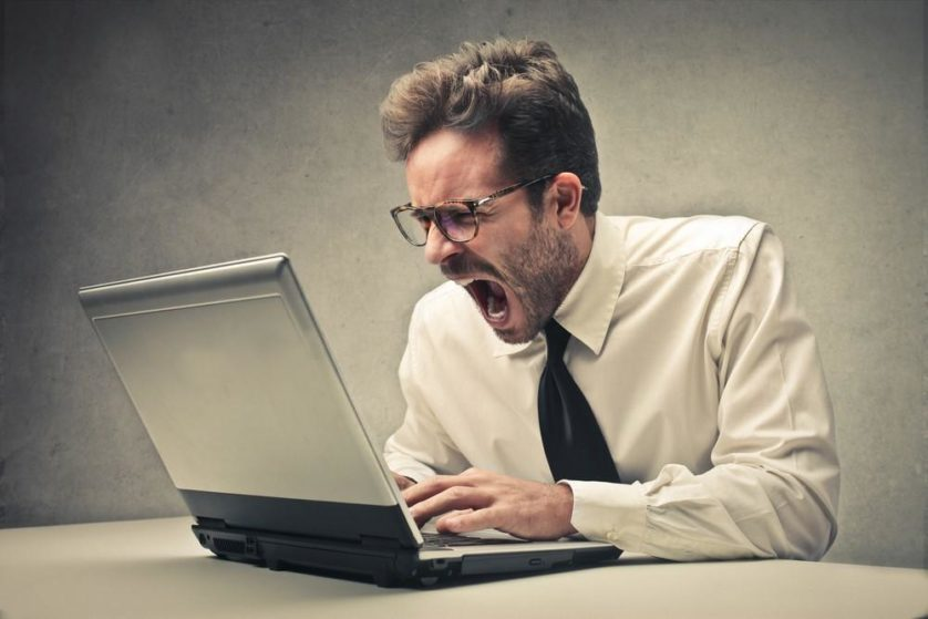 angry computer internet laptop pc (Medium)