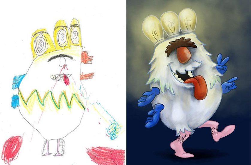 estimular a criatividade desenhos de monstros arte (17)