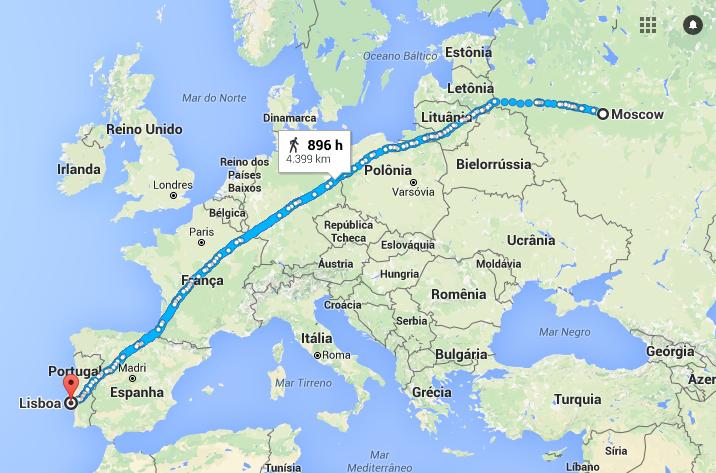 Quem completa a corrida dos 5000 km poderia ter andado de Lisboa a Moscou. Mas não. Neste desafio a pessoa nem sequer atravessa a rua