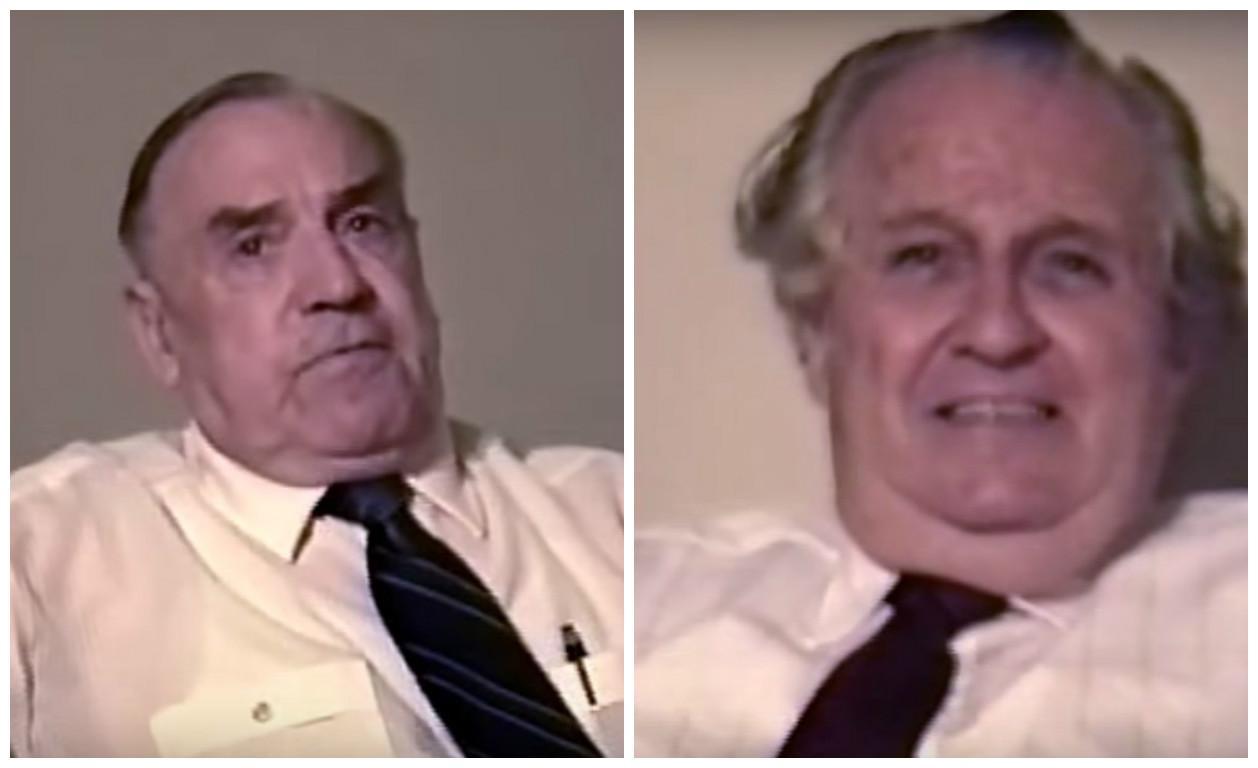 Stigler (esquerda) e Brown em encontro e entrevista em 1990