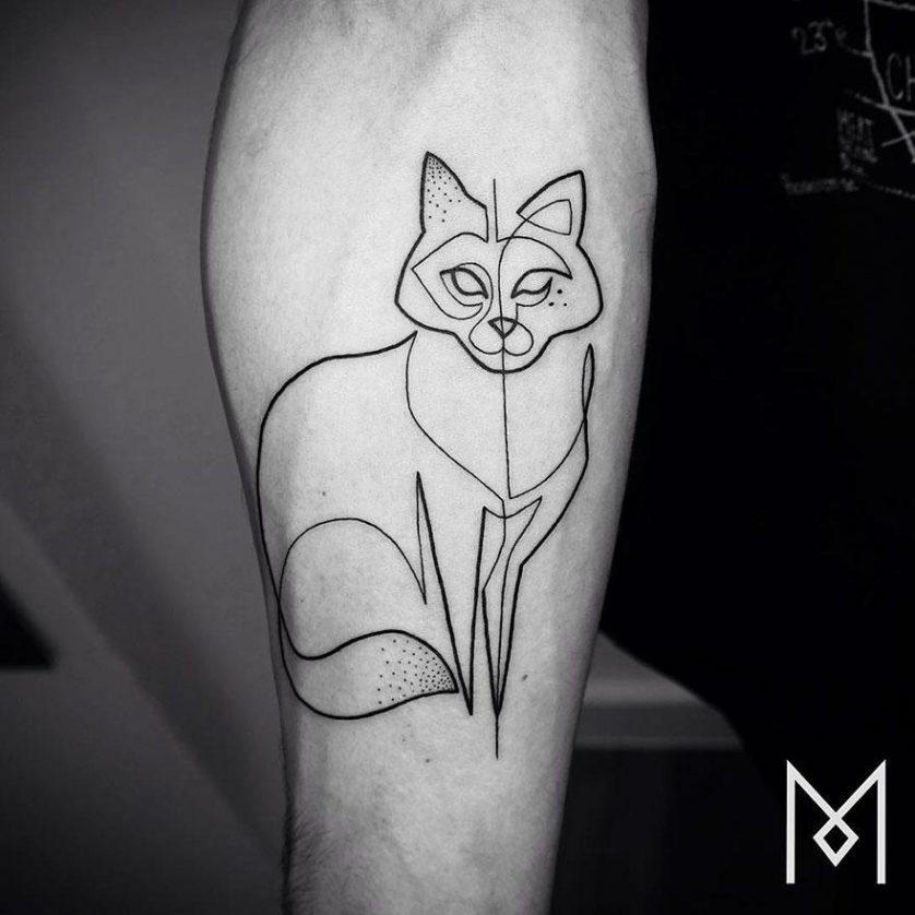 tatuagem uma linha minimalista 18