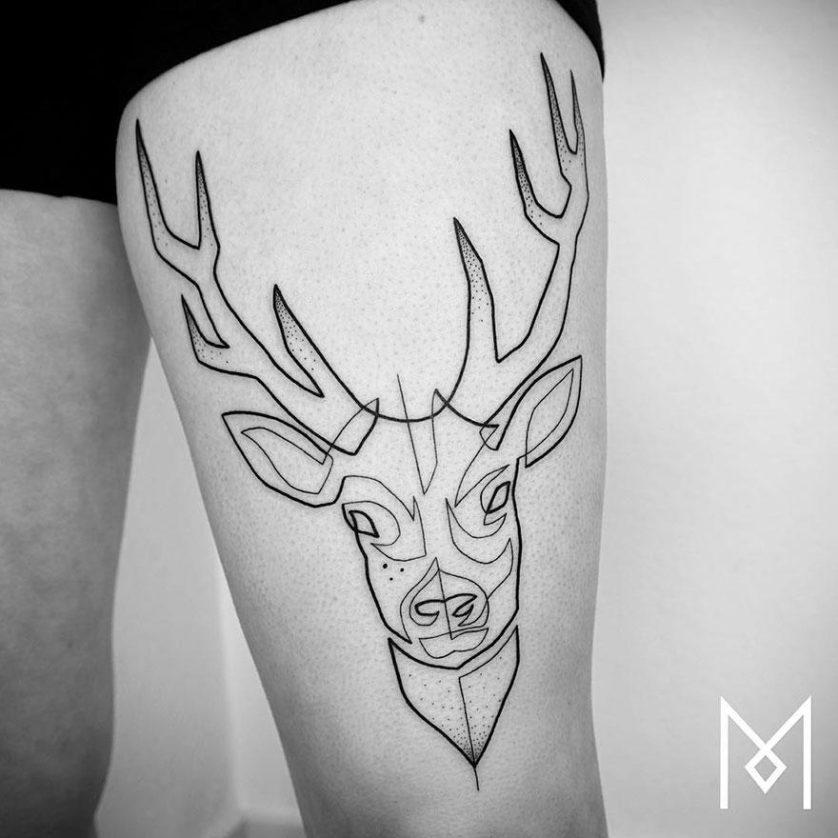 tatuagem uma linha minimalista 20