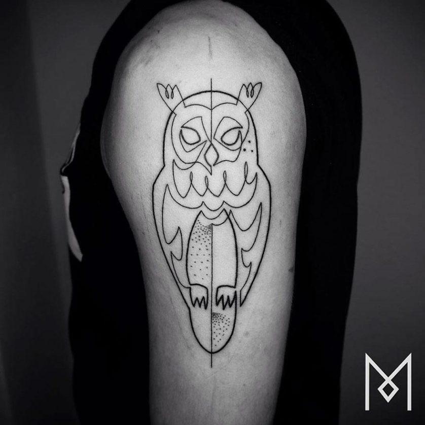 tatuagem uma linha minimalista 26