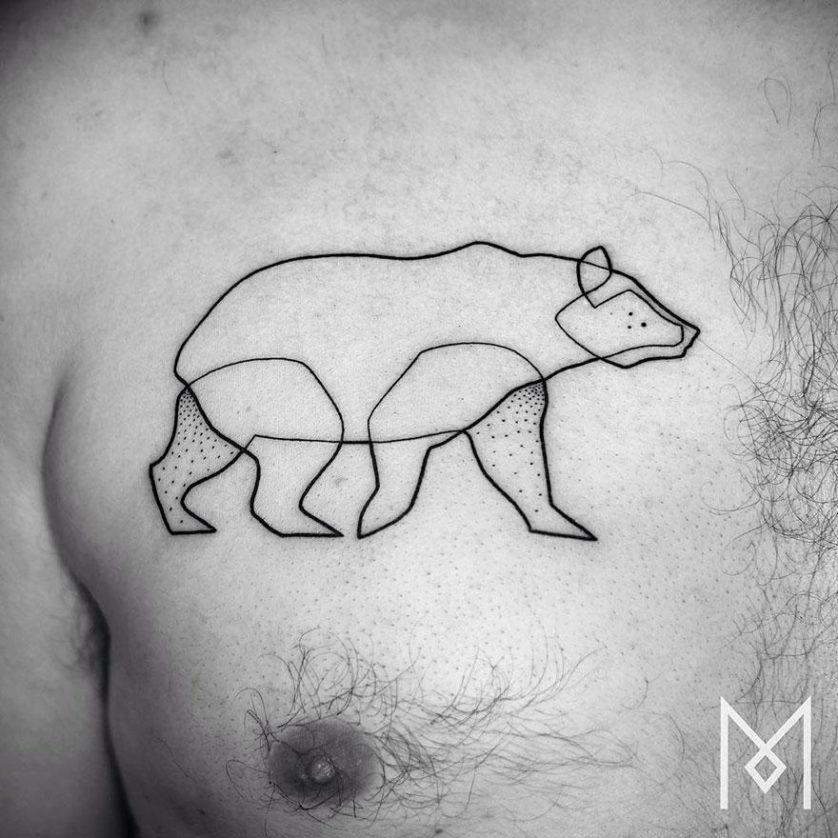tatuagem uma linha minimalista 27