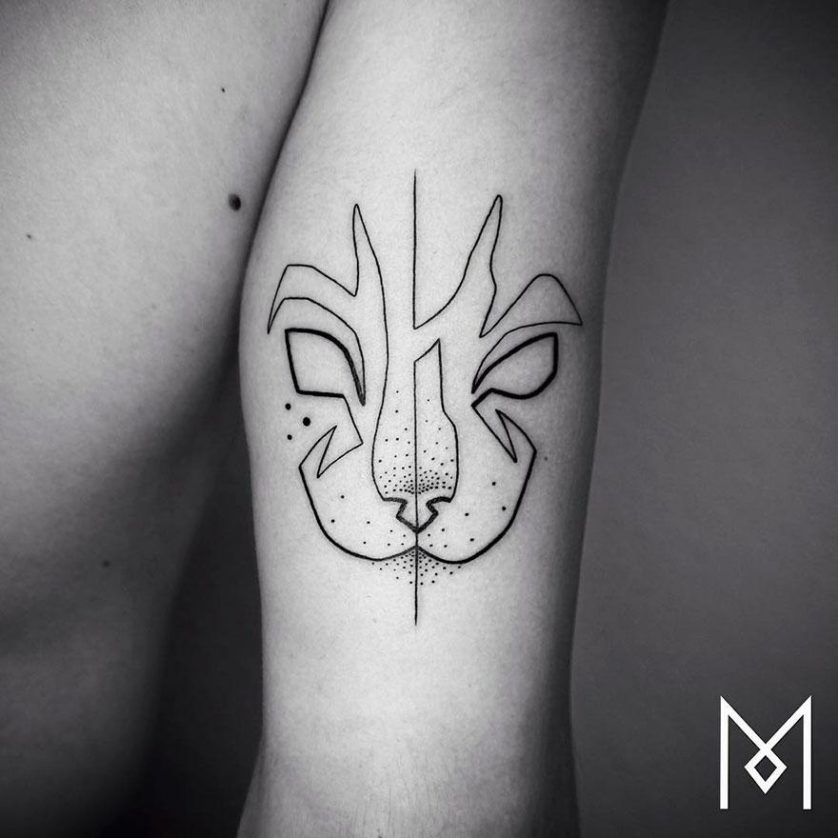 tatuagem uma linha minimalista 5