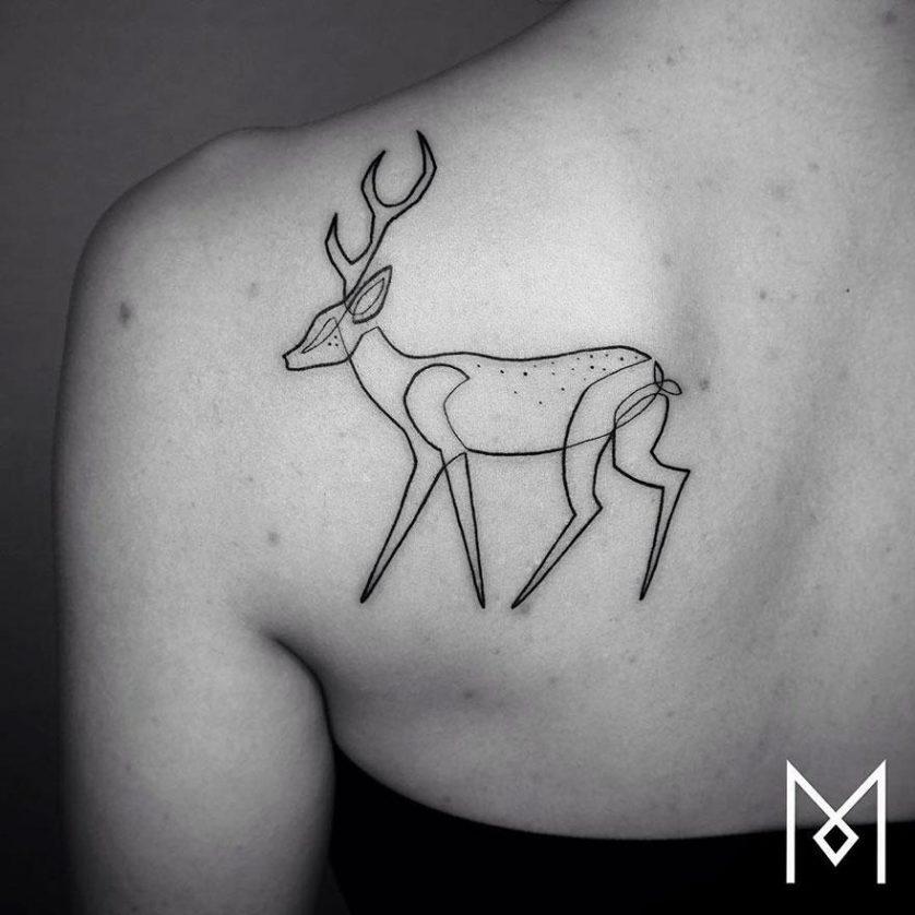 tatuagem uma linha minimalista 6