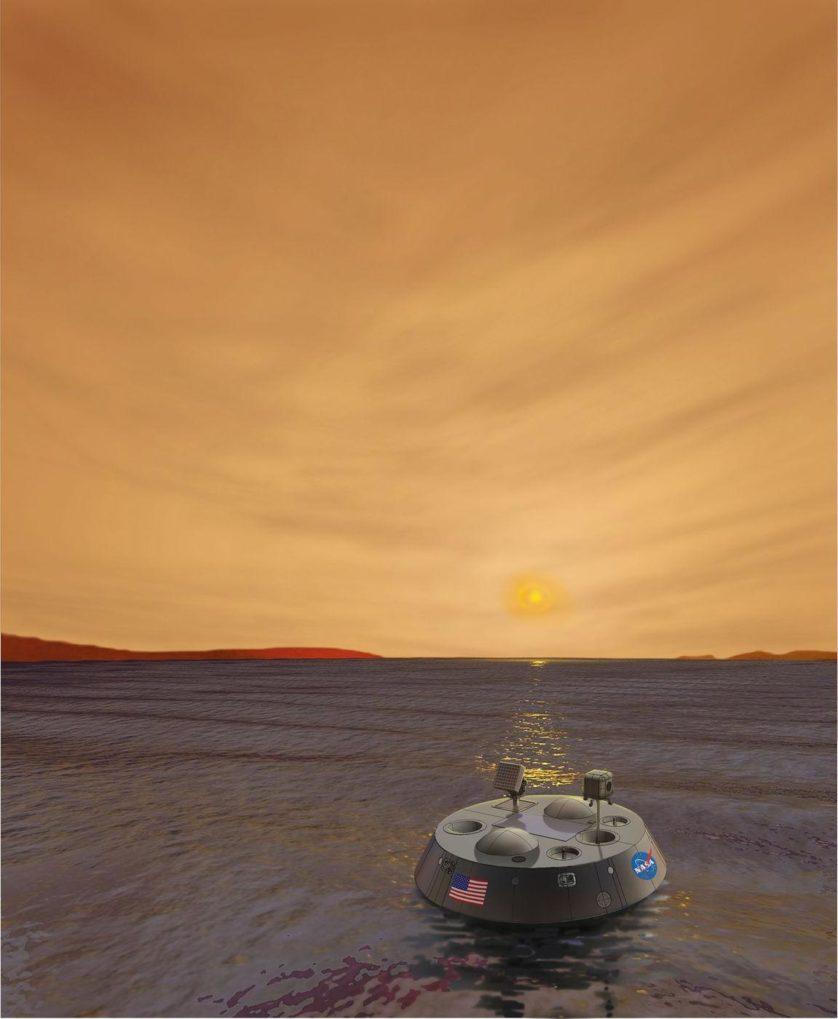 Impressão artística da sonda