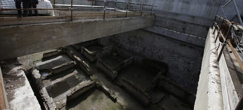 Italy Rome Metro Ruins