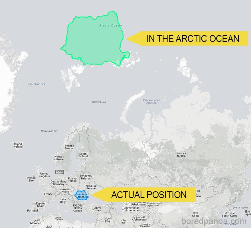 12 mapas mercator tamanhos reais
