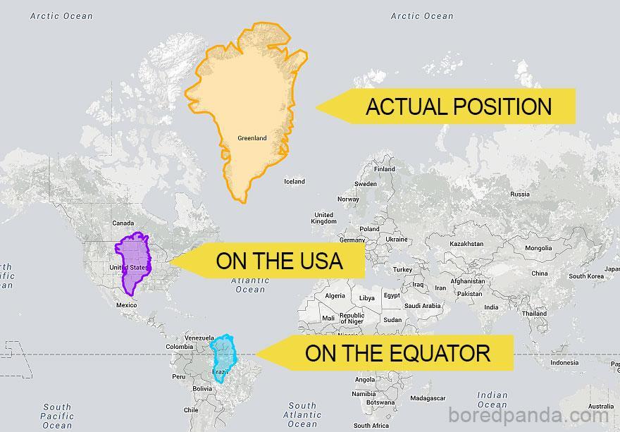 9 mapas mercator tamanhos reais
