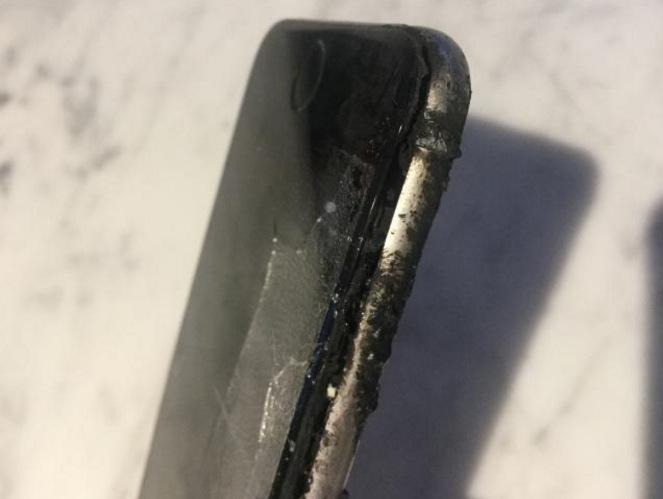 iphone explode no bolso de ciclista