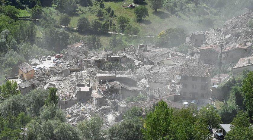 Vista aérea de Pescara del Tronto (Imagem: Getty / Giuseppe Bellini)