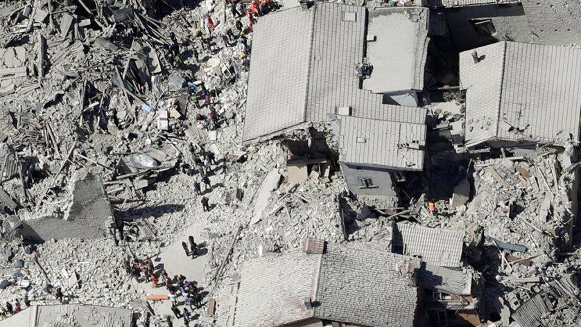 Foto aérea de Amatrice (Image: AP / Gregorio Borgia)