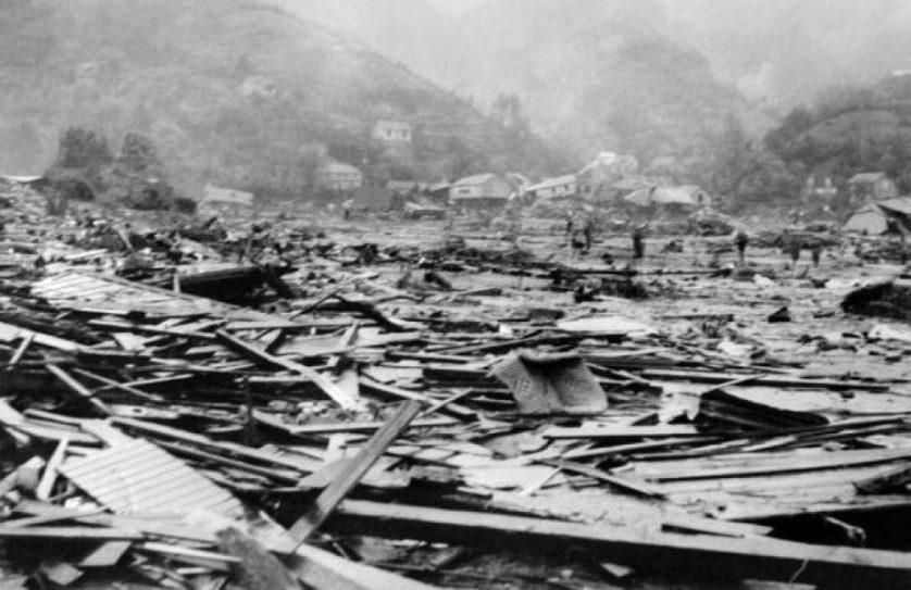 Destruição no Chile em 1960