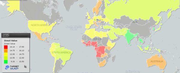 Tela do mapa interativo de TargetMap