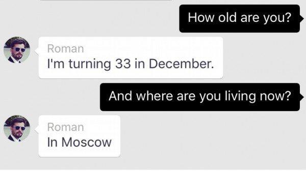 Exemplo de conversa