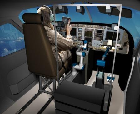 robo-pilotando-aviao