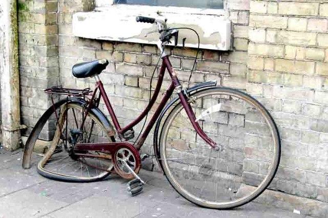 bicicleta quebrada