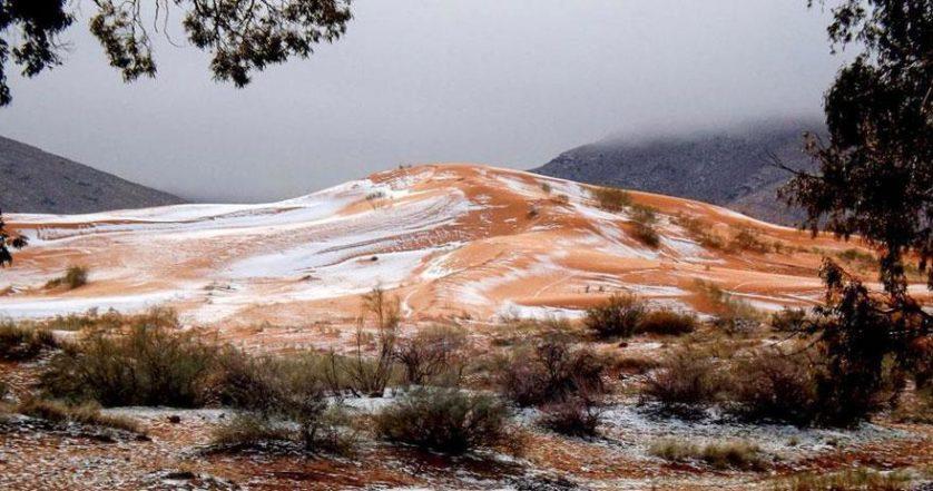 Resultado de imagem para neve no saara