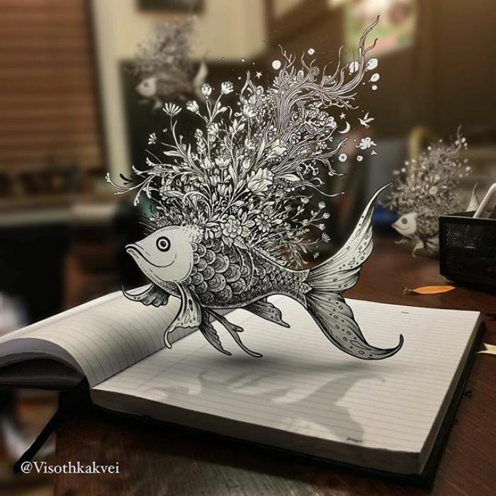 Os Inacreditaveis Desenhos 3d De Visoth Kakvei